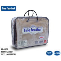 Fine Feather Soft Blanket 160X220 Light Brown 1 ply 2.2 Kg