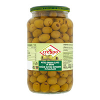 Crespo Pitted Green Olives in Brine 907 g