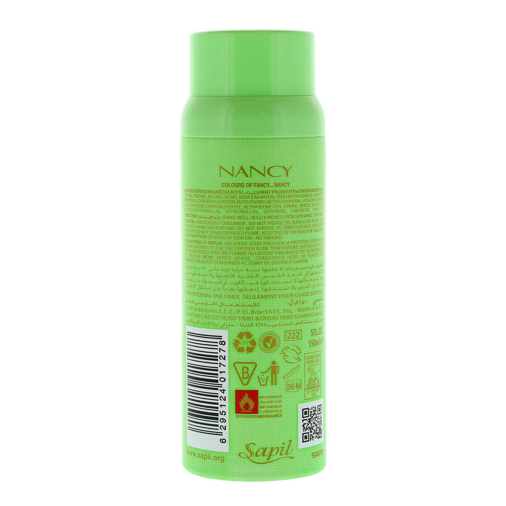 SAPIL NANCY GREEN DEO (W)  150ML