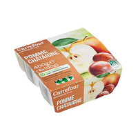Carrefour Compote Apple Chestnut 100GR X4