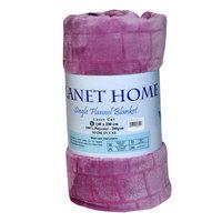 Planet Home Flannel Blanket 140X220 Light Purple