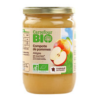 Carrefour Bio Organic Apple Sauce Light 650g