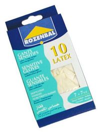 Rozenbal Latex Gloves 10 Pieces Large