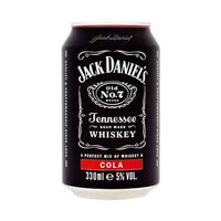 Jack Daniel's Can 5% Alcohol Whisky 33CL