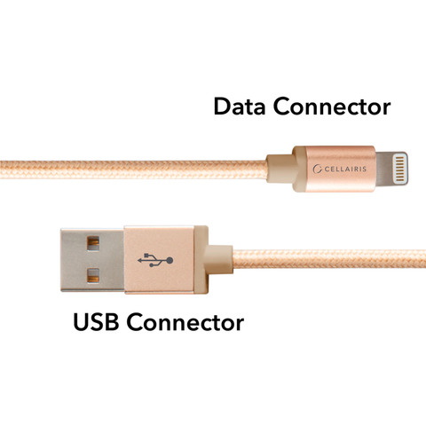 Cellairis-Lightning-Cable-3-Feet-Gold