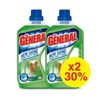 Der General Floor Cleaner Shine Pine 750ML X2 -30%