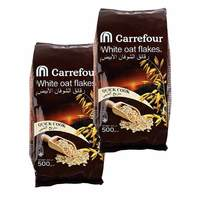 Carrefour white oat flakes pouch 500 g × 2