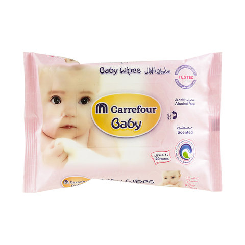 Buy Carrefour Baby Wipes Scented 20 Wipes Online - Shop null on ... b641b0e0876