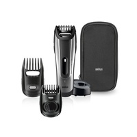 Braun BT5090 Beard Trimmer With 2 Comb Attachments, Charging Stand + Soft Pouch