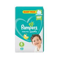 Pampers Baby-Dry Diapers Size 6 Extra Large Mega Pack 48 diapers