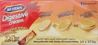 McVitie's Digestive Creams Wheat Bisuits with Vanilla Flavoured 37.5gx24