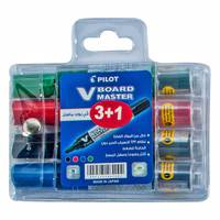 Pilot White Board Marker 4pc Assorted