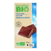 Carrefour Bio Organic Milk Chocolate Tab 100g