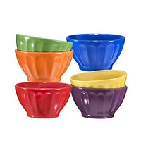Embossed Bowl 15.3CM 6 Pieces