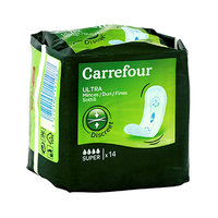 Carrefour Pads Ultra Slim Super No Wings 14 Pads