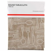 TEX Table Cloth Round 140 Beige