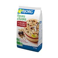 Bjorg Flocons D'Avoine 4 Grains Et Raisin 375 Gram
