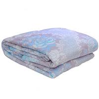 3D Super Soft Flannel Blanket Single Blue Grey