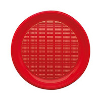 Bibo Disposable Plate Red Small 30 Pieces