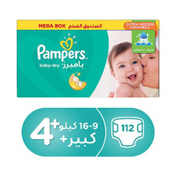 Pampers Diapers Mega Box Size 4+