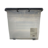 Rolling Storage Box With Casters Grey 110L
