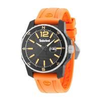 Timberland Men's Watch Westmore Analog Black Dial Orange Silicon Band 47mm Case