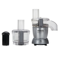 Veggie Bullet Electric Spiralizer & Food Processor 12pc Set, 500W, Silver, VBR-1001