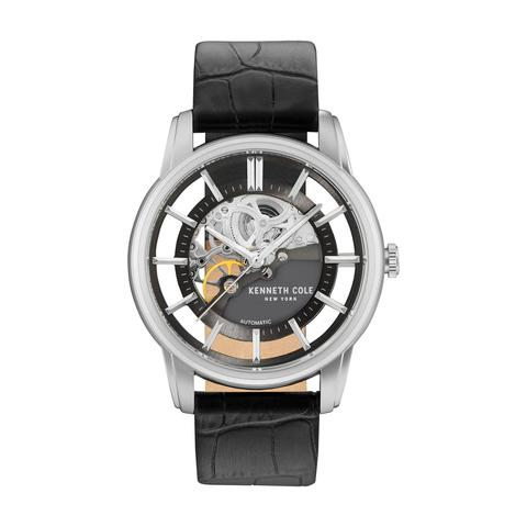 b59dbf6426d Buy Kenneth Cole Men  39 s Watch Automatic Analog Gun Dial Black ...