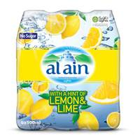 Al Ain Bottled Drinking Water with a Hint of Lemon & Lime 500mlX6