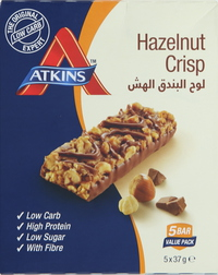 Atkins Hazelnut Crisps 37gx5