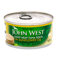 John West Light Meat Tuna Solid in Sunflower Oi 120gl