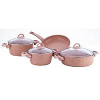 Cooking Set Granite Pink 7Pcs