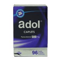Adol Caplets Paracetamol 500mg (96 Caplets)