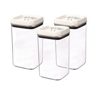 Felli Flip Tite Square Canister 3 Pieces