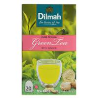 Dilmah Green Tea with Ginger 20's