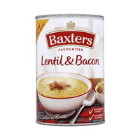 Baxters Favourites Lentil & Bacon Soup  400GR
