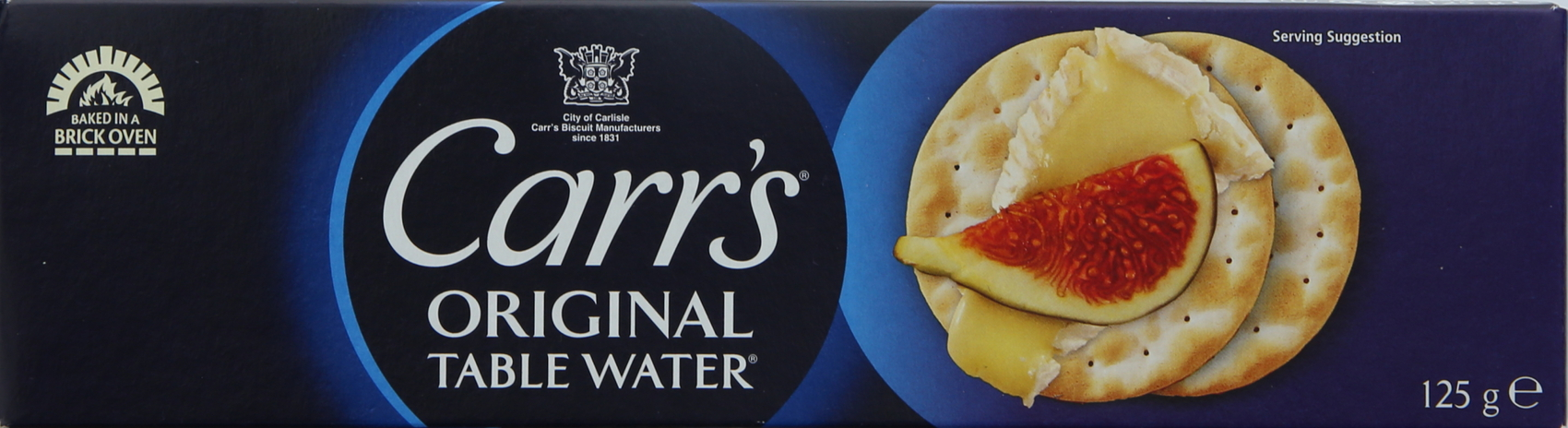CARRS TABLE WATERS CRACKERS 125G