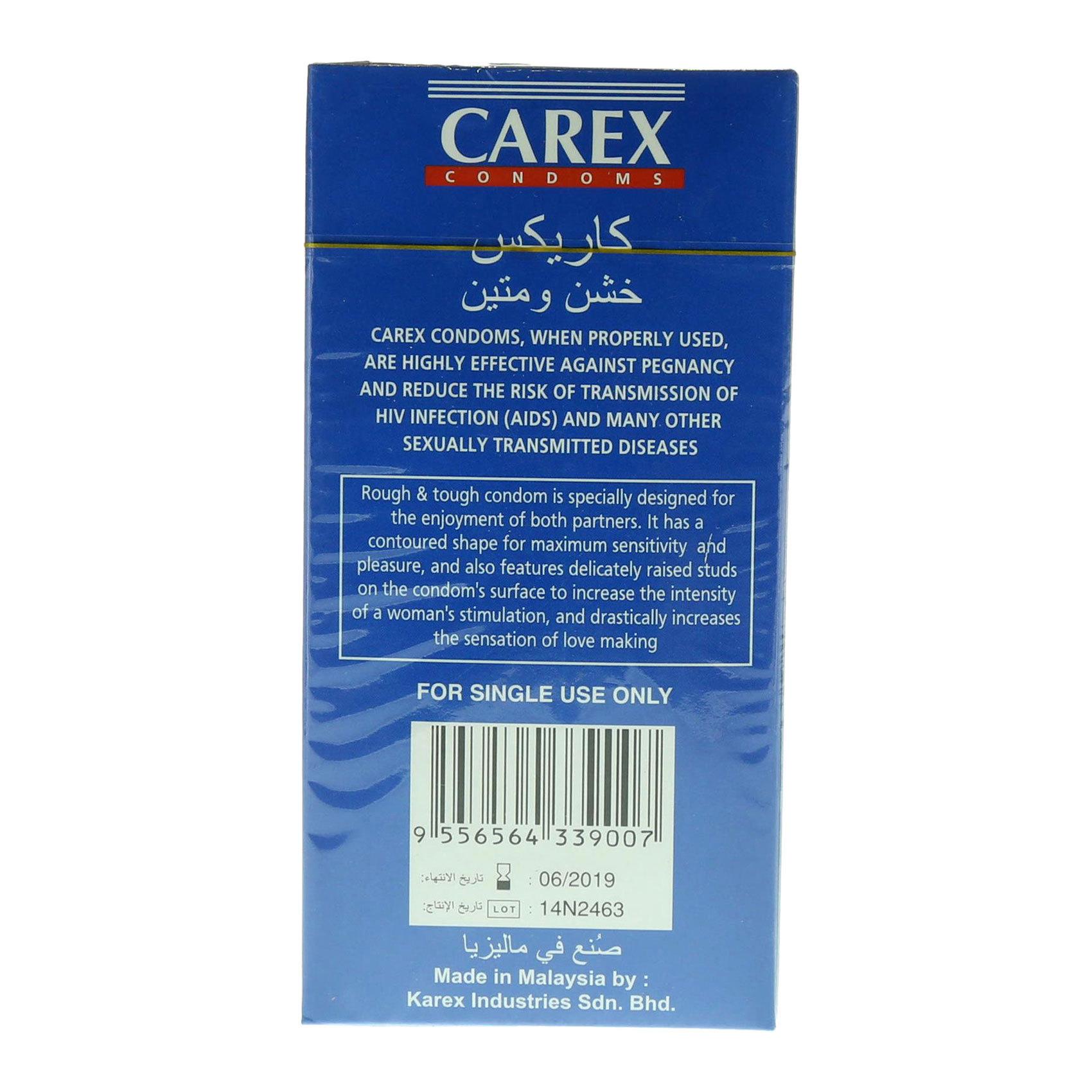 CAREX CONDOMS ROUGH X12