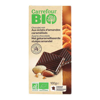 Carrefour Bio Organic Dark Chocolate with Almonds 100g