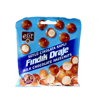 Elit Dragee Hazelnut Covered Milk Chocolate 60GR