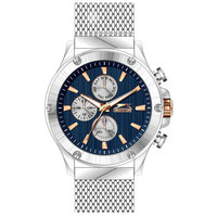 Slazenger Men's Multifunction Display Blue Dial Silver Stainless Steel Bracelet - SL.9.6006.2.01
