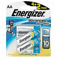 Energizer Advanced Battery AA 4 Pieces + 2 Free