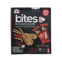 Vitalia Bites Mini Granola Bars Vanilla & Dark Chocolate 144g