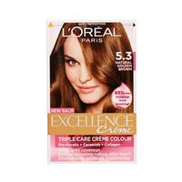 L'Oreal Paris  Excellence Colour Cream Gold Light Brown No 5.3 -10% Off