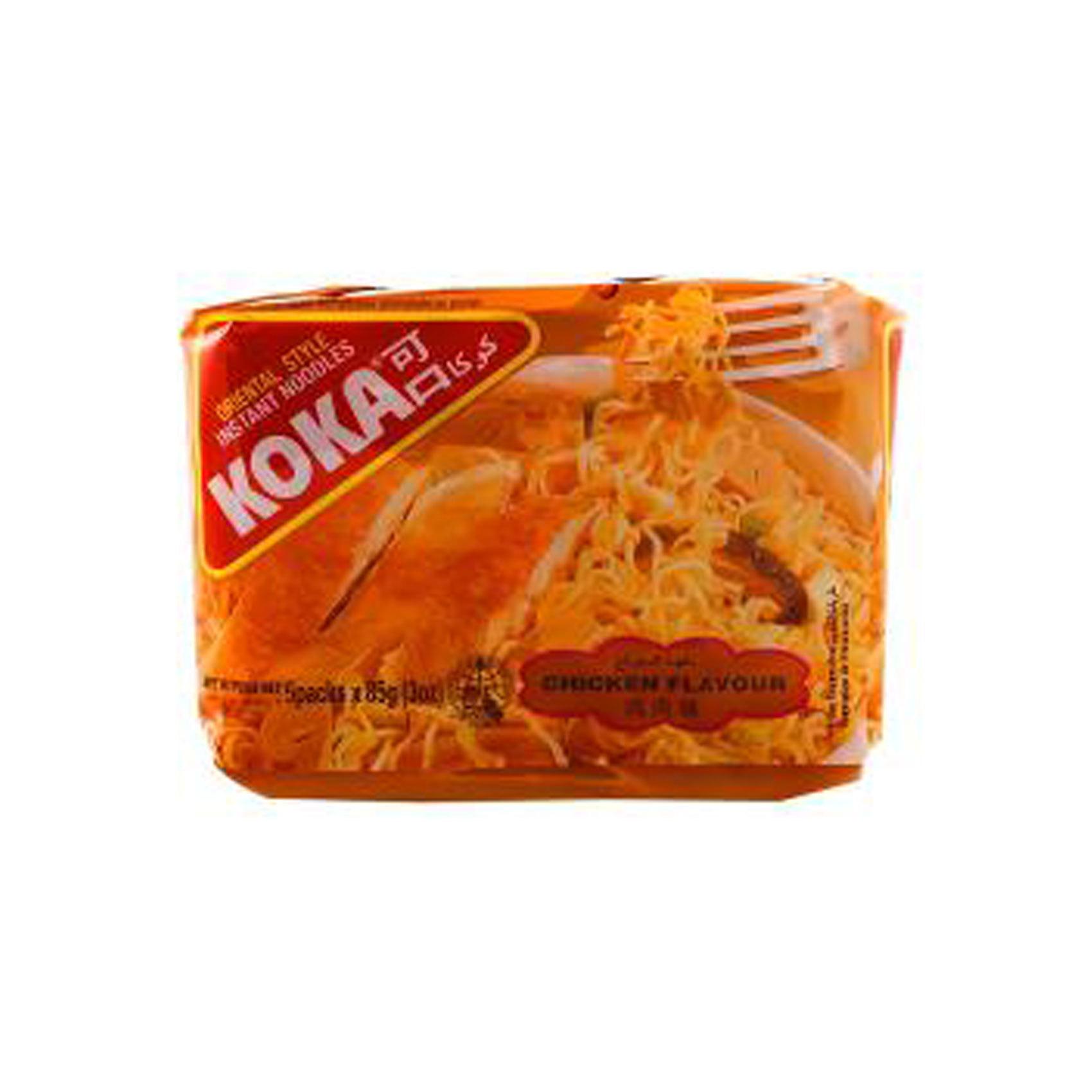 KOKA NOODLES CHICKEN 85GRX5