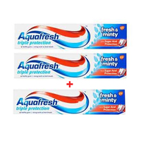 Aquafresh Toothpaste Fresh & Minty 125ML X2 + 1F