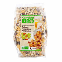 Carrefour Muesli Nuts, Almonds & Raisins 500g