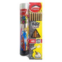Maped 12Pencils+12 Colors Pencils Cylender