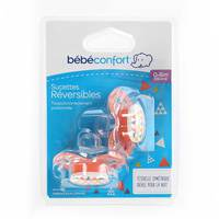 Bebeconfort Reversible Orthodontic Silicone Soother Sport Red (0 - 6 M) x2