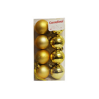Plated Ball Gold Set Of 8 6CM